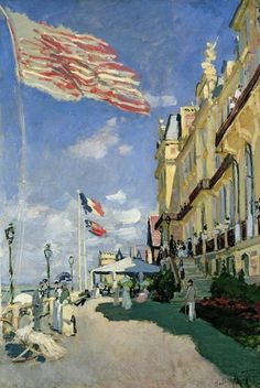 Claude Monet, The Hotel Des Roches Noires At Trouville