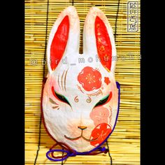 人の顔サイズの兎面です。冬限定の梅柄になります。 Demon Haunted World, Anbu Mask, Kitsune Mask, Bunny Mask, Mask Drawing, Japanese Mask, Masked Man, Art Poses, Japan Art