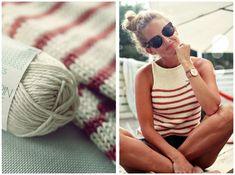 Puuvillatoppi: Tarvitset (koko S-M) / nr 5 pyöröpuikon / Sandnes Garn Mandarin Grande (tai muuta samoille puikoille sopivaa) puuvillalankaa 300g... Minimal Chic, Minimal Fashion, Knitting Yarn, Knitting Patterns, Scandinavian Fashion, Knit Jacket, Parisian Style, Simple Outfits, Knitwear