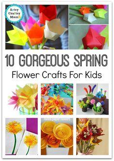 10 Spring Flower Crafts for kids