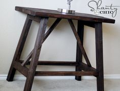 Pottery Barn Inspired Truss End Tables