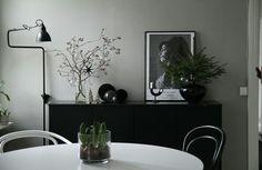 "Hos inredningsdesign -bloggaren Maiju Saw, Finland. Vinter 16/17. Min ""smaktvilling"" ♡ :)"