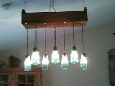 Mason Jar Light Fixture Made By Mike Honey Do
