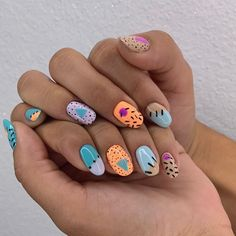 Nail Design Stiletto, Nail Design Glitter, Stylish Nails, Trendy Nails, Get Nails, Hair And Nails, Painted Nail Art, Funky Nails, Dream Nails