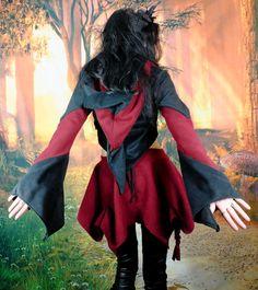 Nymphfae Fleece Hooded Bolero by Moonmaiden Gothic Clothing UK