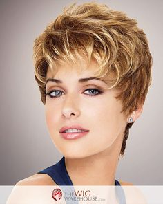 The boy cut style may sound masculine in name, but the charming Aspire wig by Gabor offers a flirty feminine appeal that is worlds away from anything masculine. The short locks feature all-over layers