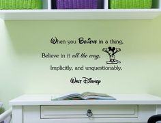 Wall Quotes, Me Quotes, Funny Quotes, Disney Wall Stickers, Walt Disney Quotes, Disney Rooms, Senior Quotes, Dream Wall, Different Quotes