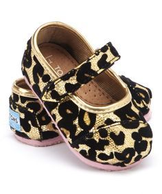 Gold Leopard Glitter Mary Jane - Tiny | zulily