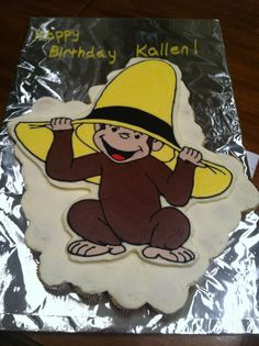 Curious George Cupcake cake :)