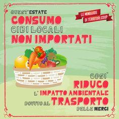 Consuma cibi locali e non importati! Così riduci l'impatto ambientale dovuto al trasporto delle merci #vacanze #sostenibili