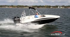 Bayliner Element: The new Bayliner Element represents a completely new design from a company well known for its affordable and good handling boats.