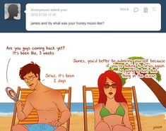 "Or their honeymoon… | These Hilarious ""Harry Potter"" Comics Ask James And Lily Potter Questions"
