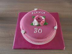 Rozen en draperiën taart/ Roses and drapes cake