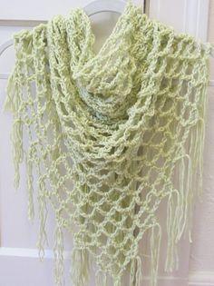 Crochet Pattern Open Lace Arch Shawl SALE