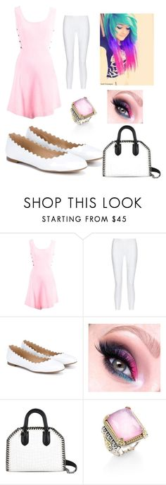 """""""baby doll"""" by eddsworld-style ❤ liked on Polyvore featuring Versace, 10 Crosby Derek Lam, Chloé, STELLA McCARTNEY and Konstantino"""