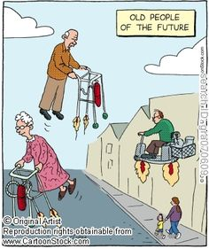 Elderly funny cartoons from CartoonStock directory - the world's largest on-line collection of cartoons and comics. Senior Citizen Humor, Senior Humor, Cartoon Jokes, Funny Cartoons, Funny Comics, Happy People, Funny People, Old People Cartoon, Alter Humor