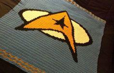 star trek crochet blanket pattern - Google Search
