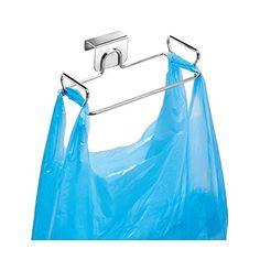 From Interdesign Classico Trash Bag Stand Metal Plastic Bag Holder Ideal Under Sink Storage Silver Small Storage Hooks, Closet Storage, Storage Baskets, Kitchen Storage, Extra Storage, Cabinet Storage, Kitchen Pantry, China Storage, Kitchen Cabinets