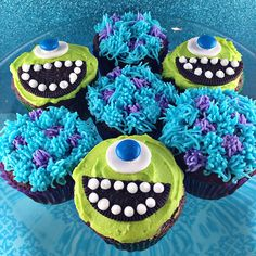 With Sprinkles on Top » Monsters Inc Cupcakes