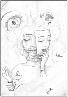 International Day for the Elimination of Gender Violence - Zeichnungen - Art Sketches Girl Drawing Sketches, Sad Drawings, Dark Art Drawings, Pencil Art Drawings, Art Sketches, Emotional Drawings, Meaningful Drawings, Arte Sketchbook, Sad Art