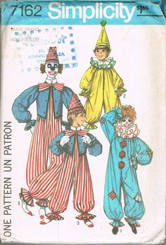 6ba6b6935b74 UNCUT Large ADULT Clown Jumpsuit Halloween Costume Vintage Sewing Pattern  McCall s 7162 - Giant Bow Tie Pattern