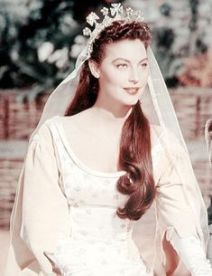 """deforest: """" Ava Gardner as """"Queen Guinevere"""" in Knights of the Round Table """" Mode Hollywood, Old Hollywood Stars, Hollywood Icons, Hollywood Fashion, Hollywood Actor, Golden Age Of Hollywood, Vintage Hollywood, Hollywood Glamour, Hollywood Actresses"""