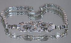 Vintage Jewelry Otis Art Deco Bracelet Sterling by DLSpecialties, $80.00