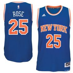 b8b258c56bf7 Men s New York Knicks Derrick Rose adidas Royal climacool Road Swingman  Jersey Mens Basketball Jerseys