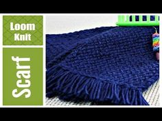 EASY LOOM KNIT SCARF Step by Step for Beginners VERY Detailed Round and ...