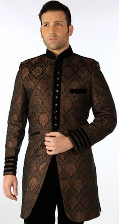 2013 Traditional Indian Groom | Indian Stylish Traditional Sherwani Dresses 2013 3 Indian Stylish ... Indian Groom Wear, Indian Attire, Indian Wedding Gowns, Mens Kurta Designs, Mens Attire, Civil Ceremony, Dresses 2013, Groom Outfit, Sherwani