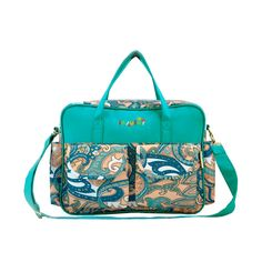 5pc Teal Paisley Patch Diaper Bag & Accessory Set, 3% discount @ PatPat Mom Baby Shopping App