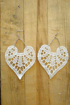 Heart Earrings by Kate DeKoster handmade