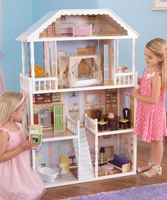 KidKraft Savannah Dollhouse - Overstock Shopping - Great Deals on KidKraft Dollhouses Full Size Trundle Bed, Toys Land, Dream Baby, Child Doll, Toys For Girls, Girls Bedroom, Savannah Chat, Baby Toys, Kids Playing