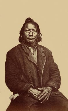 An old photograph of Antero - Ute 1871.