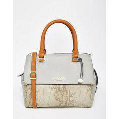 Fiorelli Grab Bag In Faux Python Print ($65) ❤ liked on Polyvore featuring bags, python print, snake skin bag, fake bags, snake print bag, top handle bag and snakeskin bag