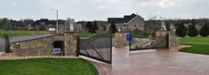 Image result for residential driveway gate pictures
