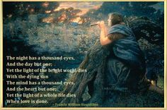 Love Poem - The Night has a Thousand Eyes