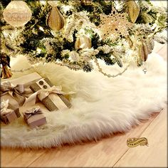 Guwheat Inches Christmas Tree Skirts White Luxury Faux Fur Tree Ornaments Plush XmasTree Skirt for Christmas Decoration New Year Party Inch Dia.) -- Visit the image link more details. (This is an affiliate link) White Christmas Tree Skirt, White Tree Skirt, Faux Fur Tree Skirt, Xmas Tree Skirts, Luxury Christmas Tree, Merry Christmas, White Skirts, Burlap Christmas Stockings, Silver Christmas