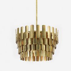 Hans-Agne Jakobsson; Brass Ceiling light, c1965.