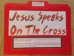 Jesus Speaks On The Cross File Folder Activity