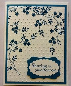 Stampin' Up! Thoughts and Prayers - Sympathy, Thinking of You, Mothers' Day, floral stamp, embossing