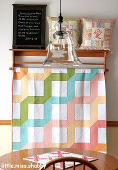 "Oh my goodness! Look at the fabulous, tight piecing and the extraordinary quilting here! ""Make it Modern Quilt"" by Corey Yoder of Little Miss Shabby."
