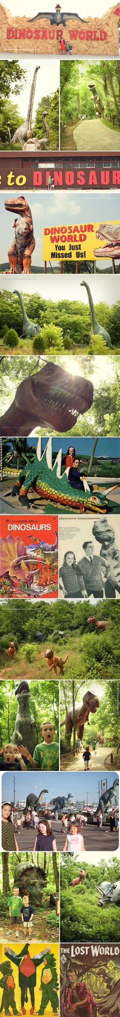 Dinosaur World - Kentucky. My kids would love this!