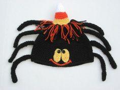 Spider crochet hat pattern