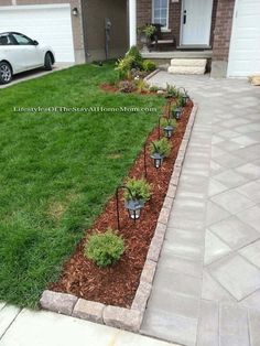 Awesome Backyard Landscaping Ideas Front Yard regarding Cheap Landscaping Ideas For Front Yard Alternatives Front Garden Landscape, Small Front Yard Landscaping, Lawn And Landscape, Driveway Landscaping, Landscape Design, Garden Design, Outdoor Landscaping, Azaleas Landscaping, Southern Landscaping