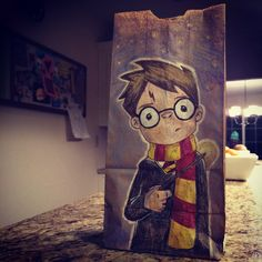 Mom Creates Incredible Lunch Bag Art; Vegetables Still Go Uneaten (20 drawings)