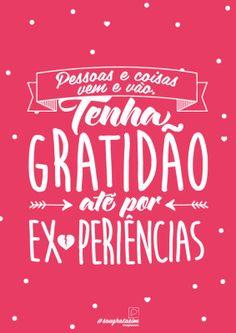 <p></p><p>Pessoas e coisas vem e vão. Tenha gratidão até por experiências. </p>