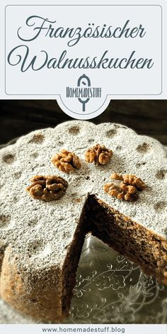 French walnut cake Homemadestuff – Soulfood & Heartpieces – Recipes And Desserts Quick Easy Desserts, Desserts For A Crowd, Dessert Recipes, Dessert Food, Cheesecake Recipes, Pie Recipes, Pecan Desserts, Cute Thanksgiving Desserts, Walnut Cake