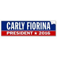 Carly Fiorina President 2016 Election Traditional Car Bumper Sticker