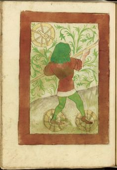 Make a walk in the wetlands today? Wear the special swamp shoes from 1420! ZürichZB Ms. Rh. hist. 33b
